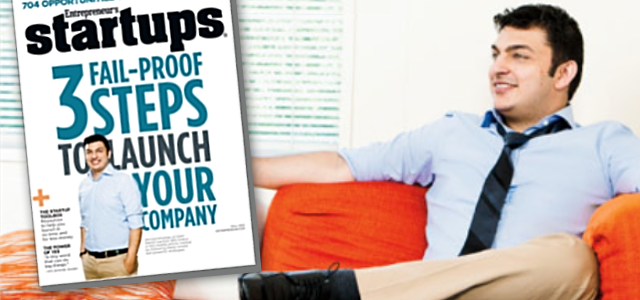 GSM Nation CEO, Ahmed Khattak, on the Cover of Entrepreneur's Startups Magazine