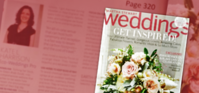 The Green Bride Guide CEO, Kate Harrison, in Martha Stewart Weddings Magazine