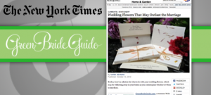Green Bride Guide CEO, Kate Harrison, in The New York Times
