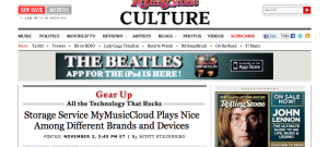 My Music Cloud in Rolling Stone