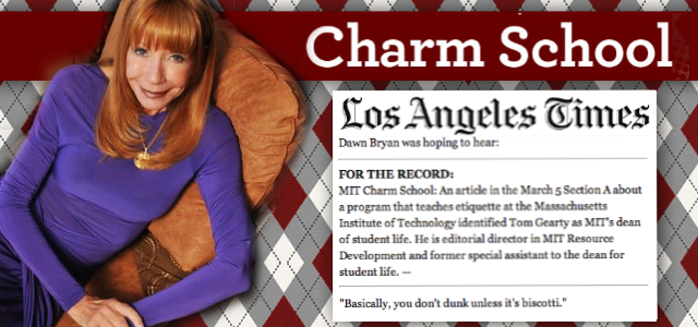 Dawn Bryan in the LA Times  for M.I.T. Charm School