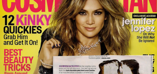 Lucas Candies in Cosmopolitan magazine