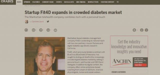 Fit4D Featured in in Crain's New York